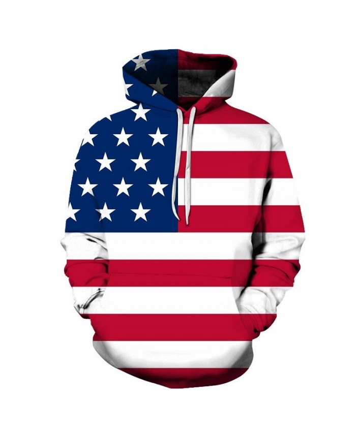 Multiple Wide Lines Men 3D Printed Pullover Sweatshirt Pullover Hoodie USA Flag Hoodie Fashion Men Hoodie Fashion