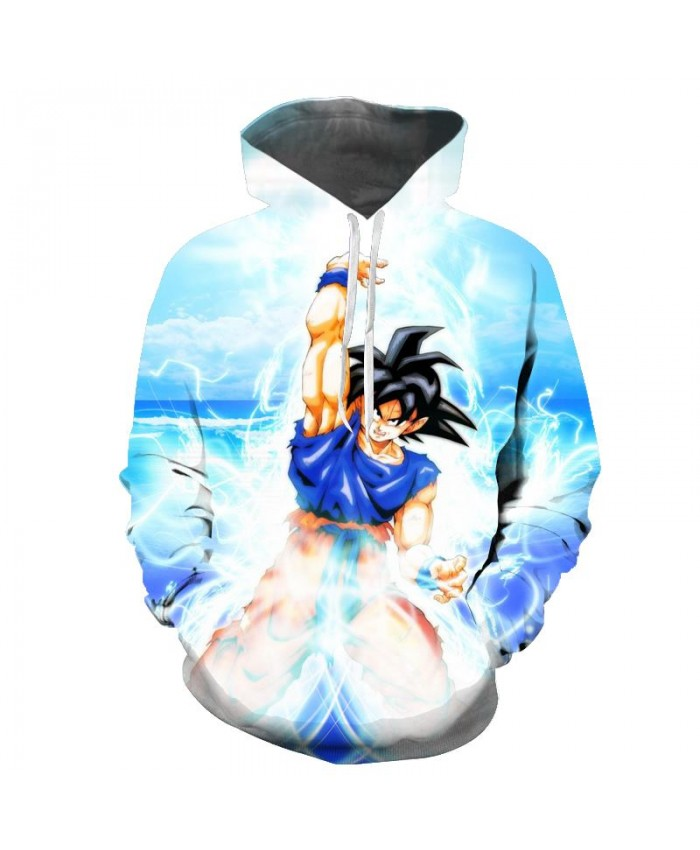NEW Seven dragon ball wukong anime hooded 3D Pocket Hooded Sweatshirts 3D Hoodies Pullovers Men Women Long Sleeve
