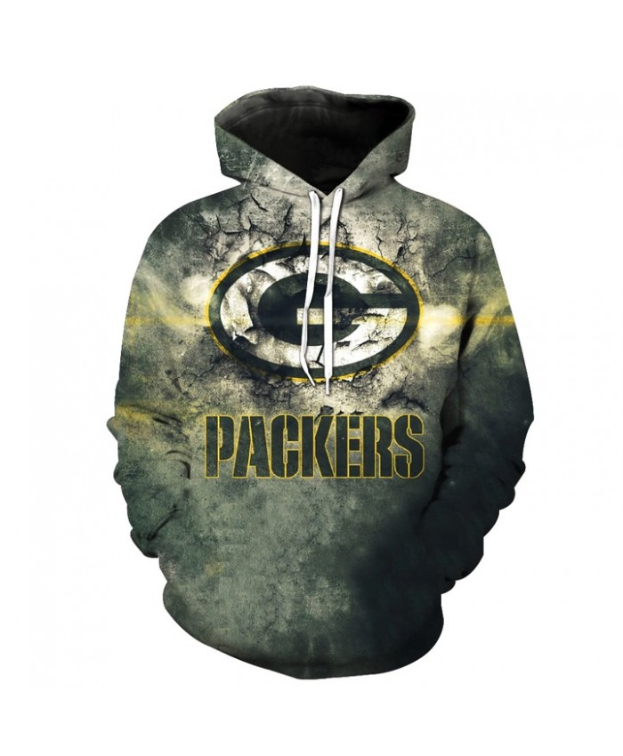 NFL Green Bay Packers Hoodie 3D Hoodie With Zipper Sweatshirt Jacket Pullover