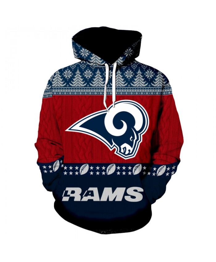 NFL American Football Casual Hoodie Christmas Sweatshirt fashion Pullover Los Angeles Rams