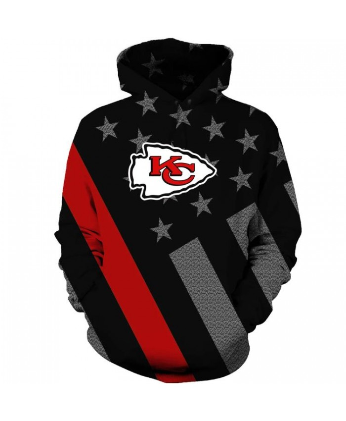 NFL American Football Kansas City Chiefs Champs Hoodie Sweatshirt Jacket Pullover