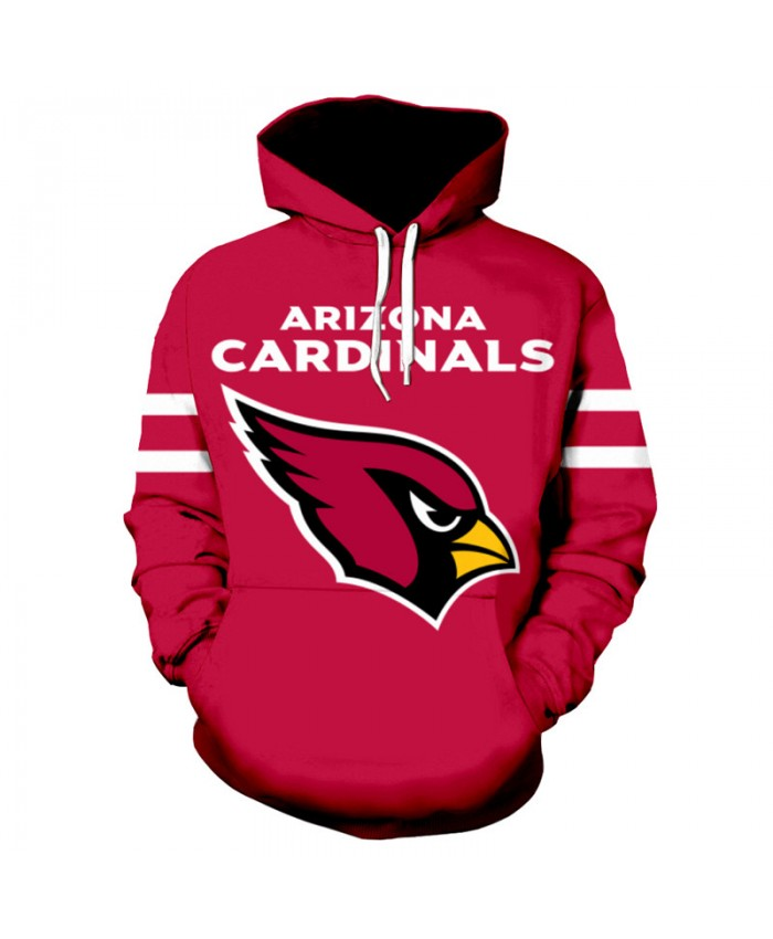 NFL American football Fashion 3D hooded sweatshirt Arizona Cardinals cool pullover