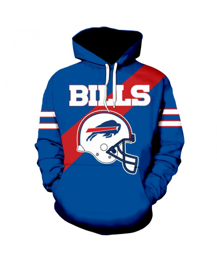 NFL American football Fashion 3D hooded sweatshirt cool pullover Buffalo Bills