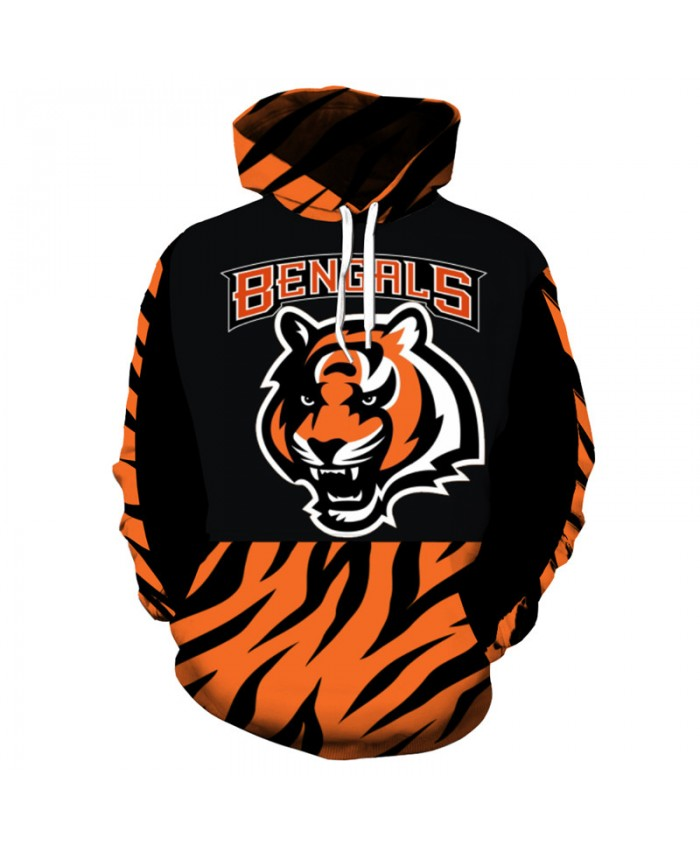 NFL American football Fashion 3D hooded sweatshirt cool pullover Cincinnati Bengals