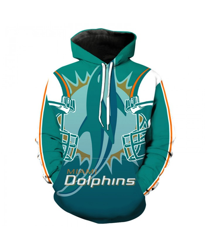 NFL American football Fashion 3D hooded sweatshirt cool pullover Miami Dolphins