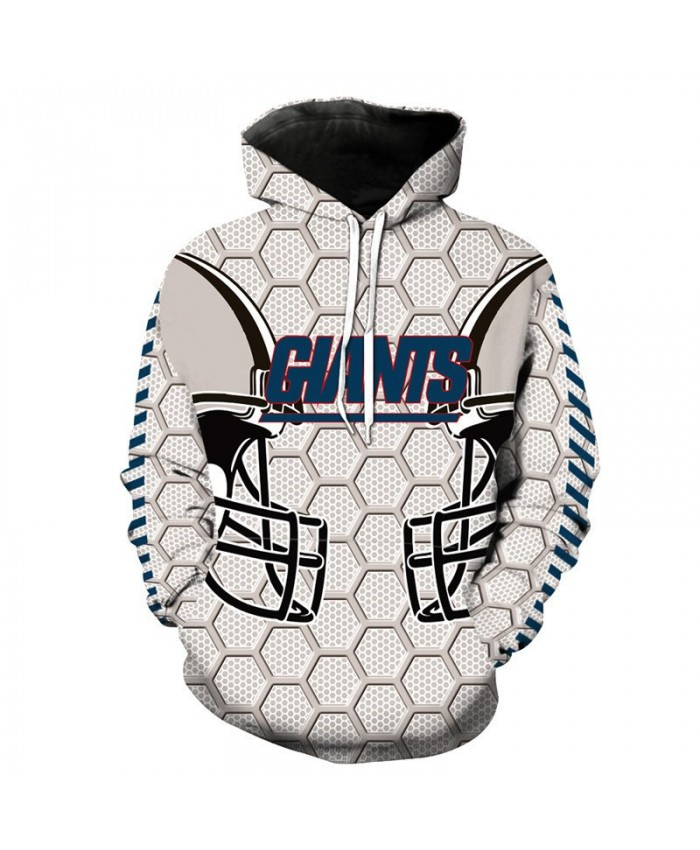 NFL American football Fashion 3D hooded sweatshirt cool pullover New York Giants