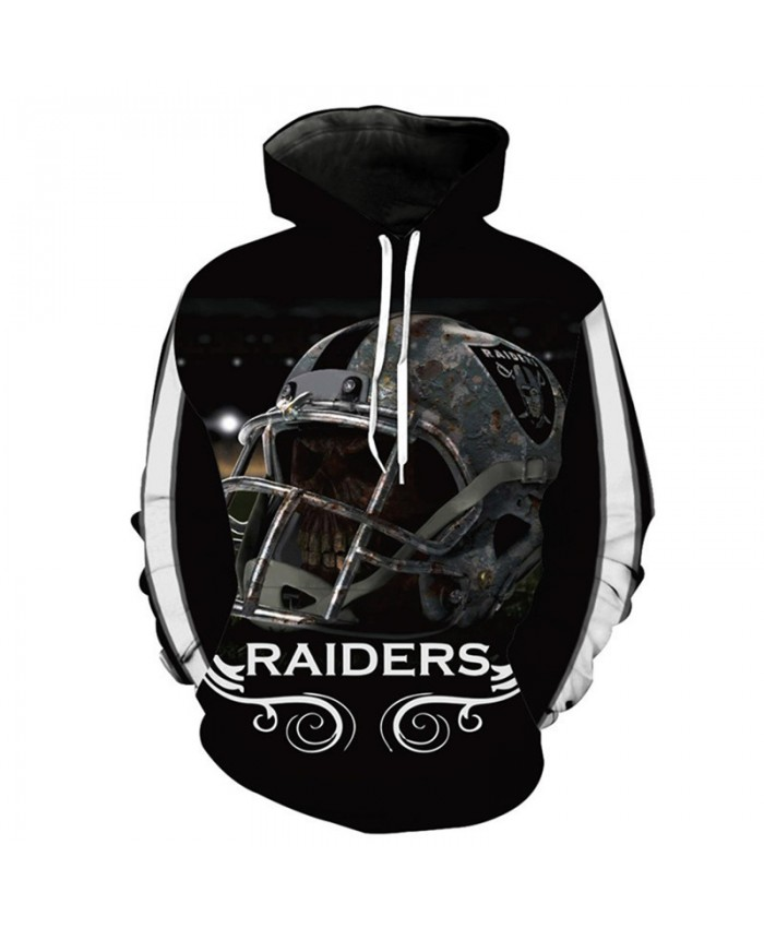 NFL American football Fashion 3D hooded sweatshirt cool pullover Oakland Raiders
