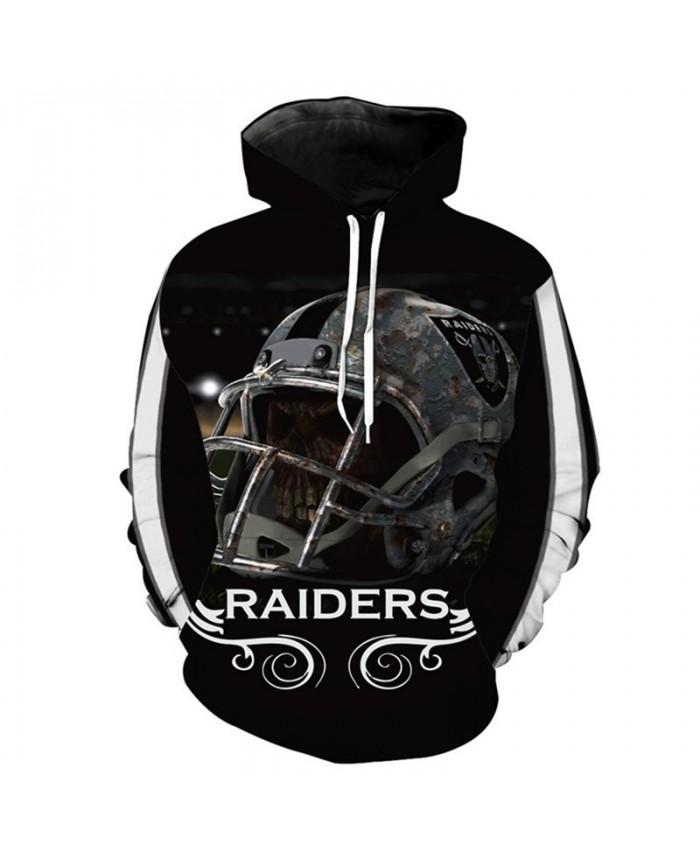 NFL American football Fashion 3D hooded sweatshirt cool pullover Oakland Raiders