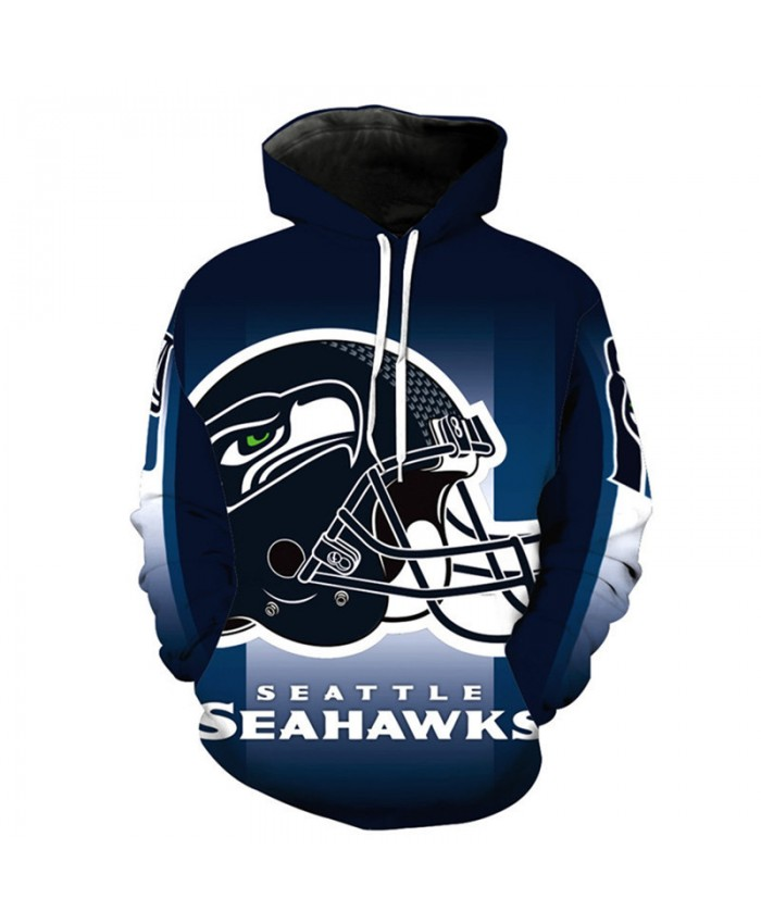 NFL American football Fashion 3D hooded sweatshirt cool pullover Seattle Seahawks