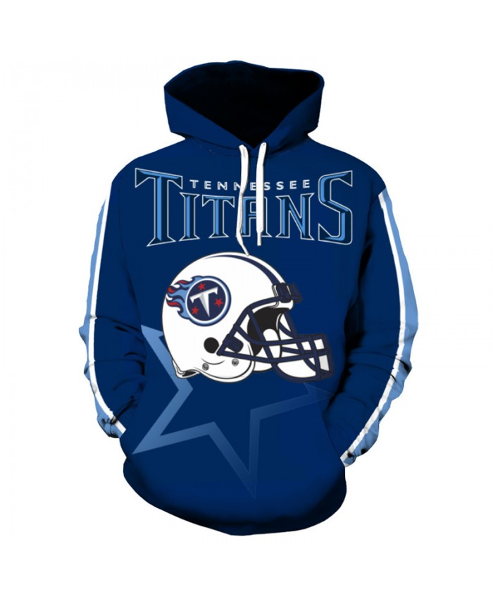 NFL American football Fashion 3D hooded sweatshirt cool pullover Tennessee Titans