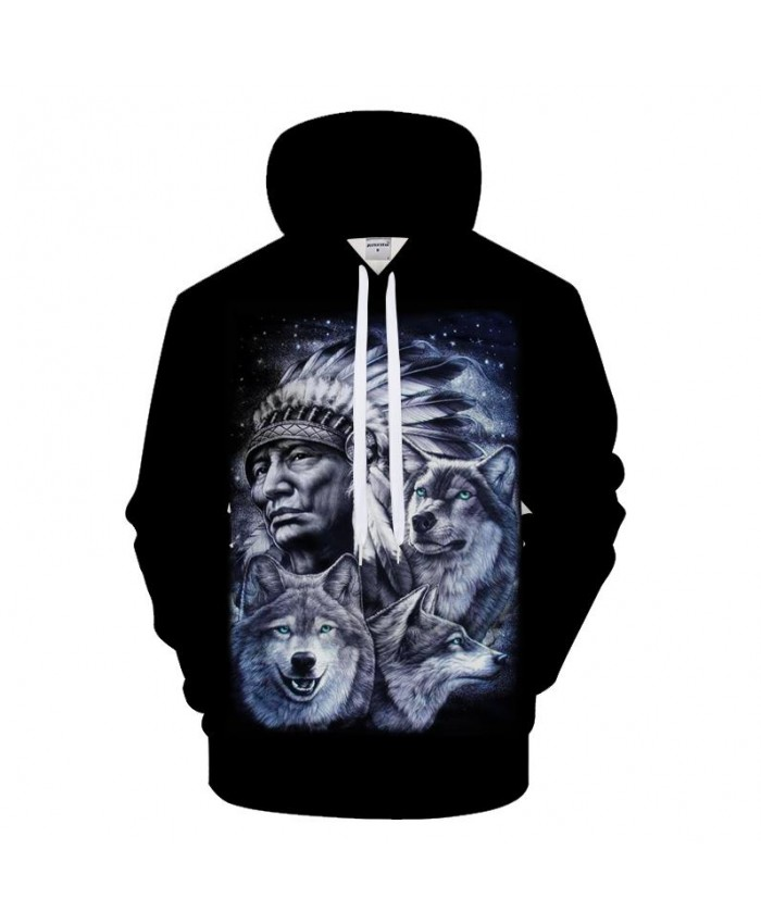 Native 3D Hoodies Men Women Sweatshirts Wolf Hoody Black Tracksuits Harajuku Pullover Streetwear Coat 2021 Drop Ship