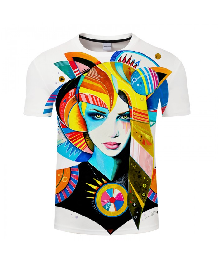 Native Girl by Pixie cold Art T-shirts 3D Men T Shirts Brand Tshirts Summer Tops Funny Tees Novelty Camiseta Male