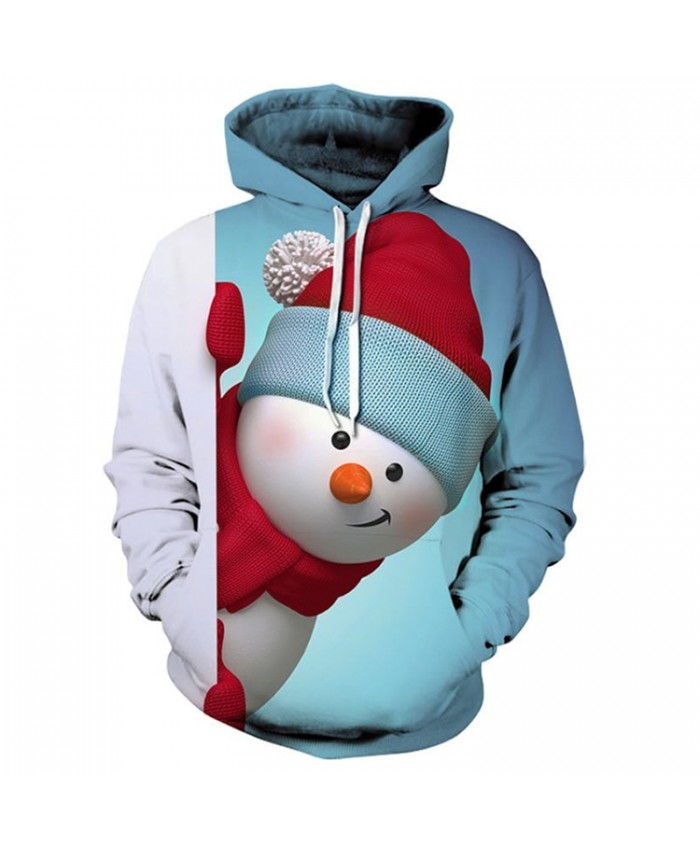 Naughty Snowman Christmas Hoodies 3D Sweatshirts Men Women Hoodie Print Couple Tracksuit Hooded Hoody Clothing