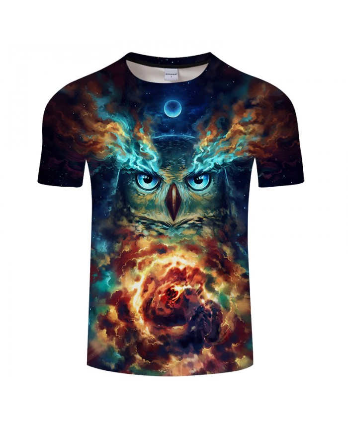 Nebowla By JojoesArt Owl 3D Print t shirt Men Women tshirt Anime Short Sleeve O-neck Tops&Tee Camisetas Plus Size 2021 Drop Ship