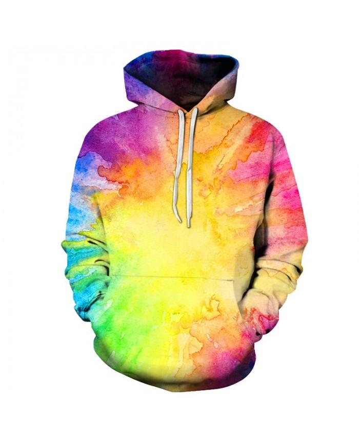 Neon Dye Art Unisex Hoodie 3D Print Sweatshirts Pullover Harajuku Mens Hoody Streetwear Coat for Autumn