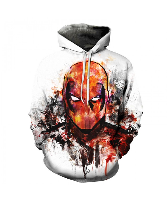 New 2019 Anime Hoodies Men/Women 3d Sweatshirts With Hat Hoody Unisex Superhero Deadpool 2 Cartoon Hooded Fashion Brand Hoodies