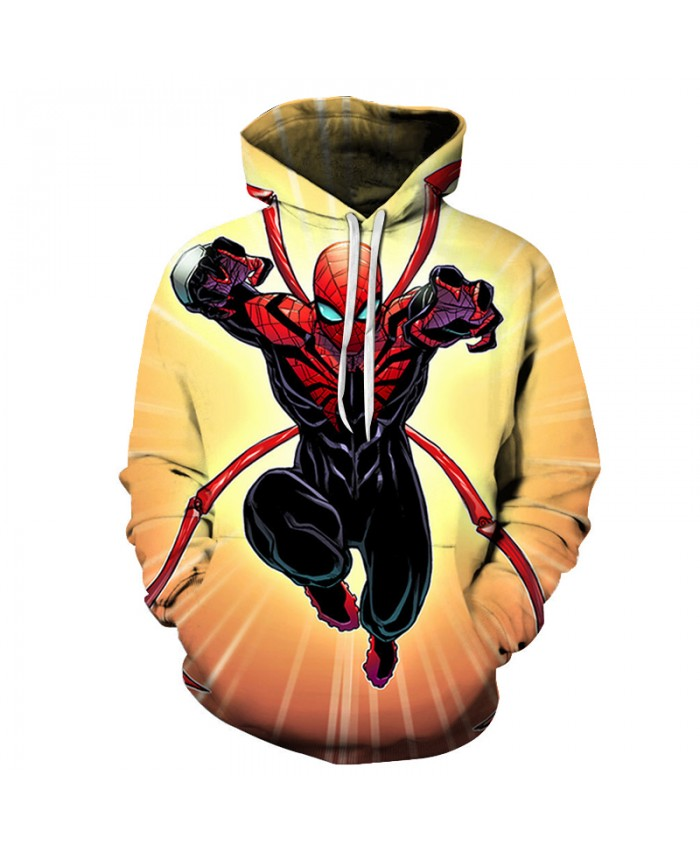 New 2021 Hot Marvel Comics Spiderman 3D Hoodies Men Autumn Fashion Funny Hoodie Hip Hop Men Women Hooded Streetwear Sweatshirts