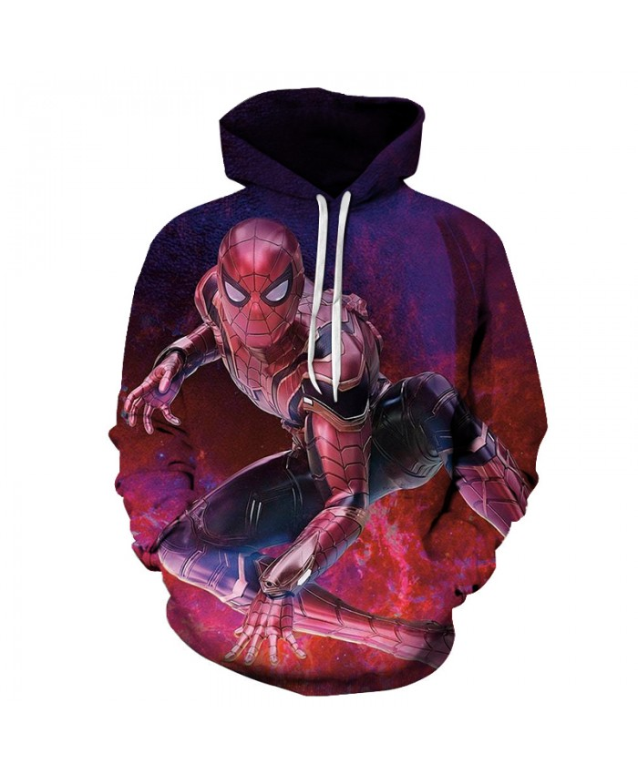 New 2021 Marvel Comics 3D Printed Iron Spiderman Sweatshirt Men/Women Tops Hoodie Men Fashion Autumn Hoodies Streetwear Clothes A