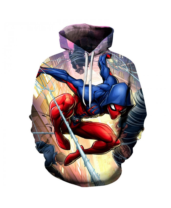 New 2021 Marvel Comics 3D Printed Spiderman Hoodie Fashion Streetwear Sweatshirts Hip Hop Anime Hoodies Men Casual Funny Jacket