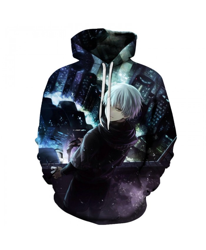 New 2021 fashion Streetwear Tokyo Ghoul 3D Hoodies men women hooded Hip Hop hoodies Sweatshirts Loose round neck pullover