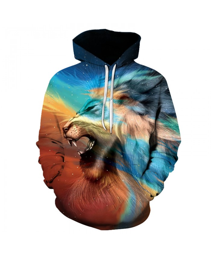 New 3D Hoodie Sweatshirt Mens Lion Printed Fashion Men Hoodies Sweat Homme Hip Hop Harajuku Men's Hoodies And Sweatshirts 6XL