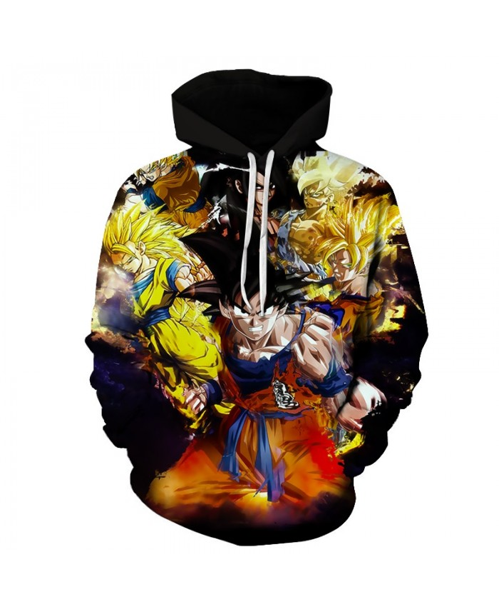 New Angry Dragon Ball Hoodies Men Women 3D Hoodie Goku Print Hoodie Anime Fashion Casual Tracksuits Hooded Pullover