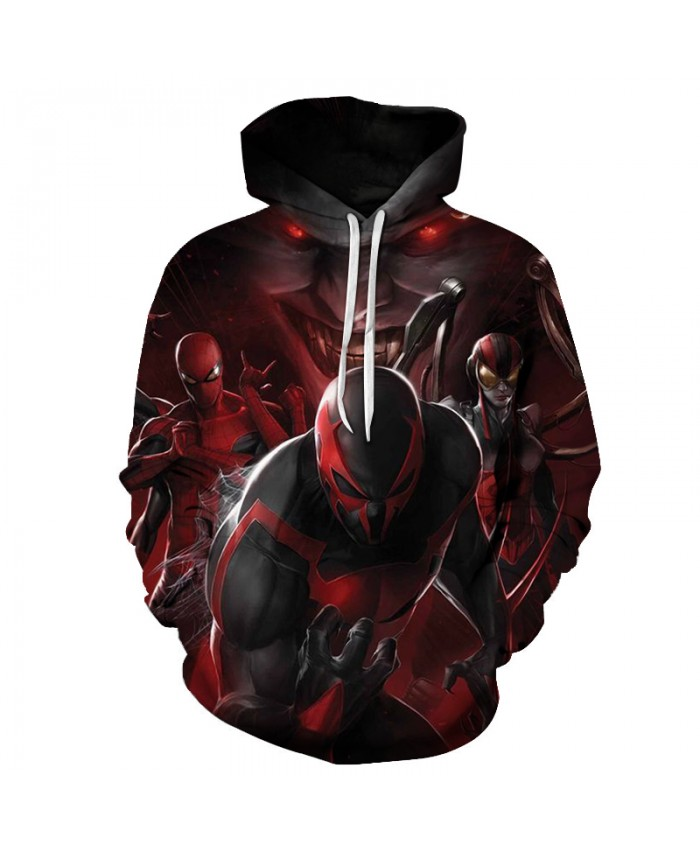 New Anime Spiderman Sweatshirt Fashion Men Women Long Sleeve Streetwear Hoodie DC Comics 3D Print Hoodies Men Hip Hop 2019