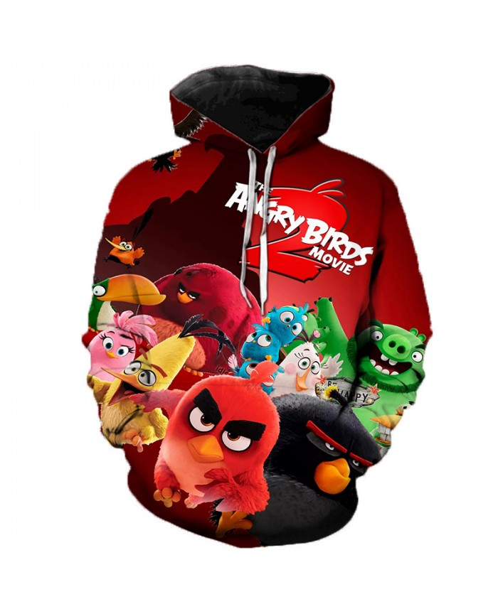 New Arrival 3D Printed The Angry Birds Movie 2 Hooded Sweatshirts Hot Sale Men Women Streetwear Angry Birds 2 Casual Hoodies