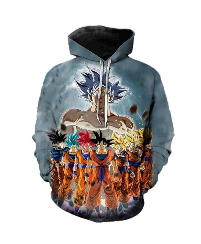 New Arrival Dragon Ball Super 3D Hoodie Men/Women Spring Fashion Sweatshirt Unisex Japanese Anime Goku Print Jacket Outerwear A