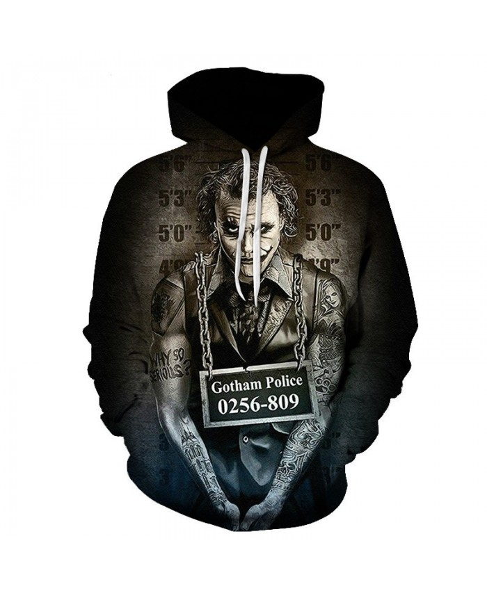 New Arrival Horror Movie Clown 3D Printed Hooded Sweatshirts Men Women Fall Winter Fashion Hoodies Streetwear Casual Hoodies