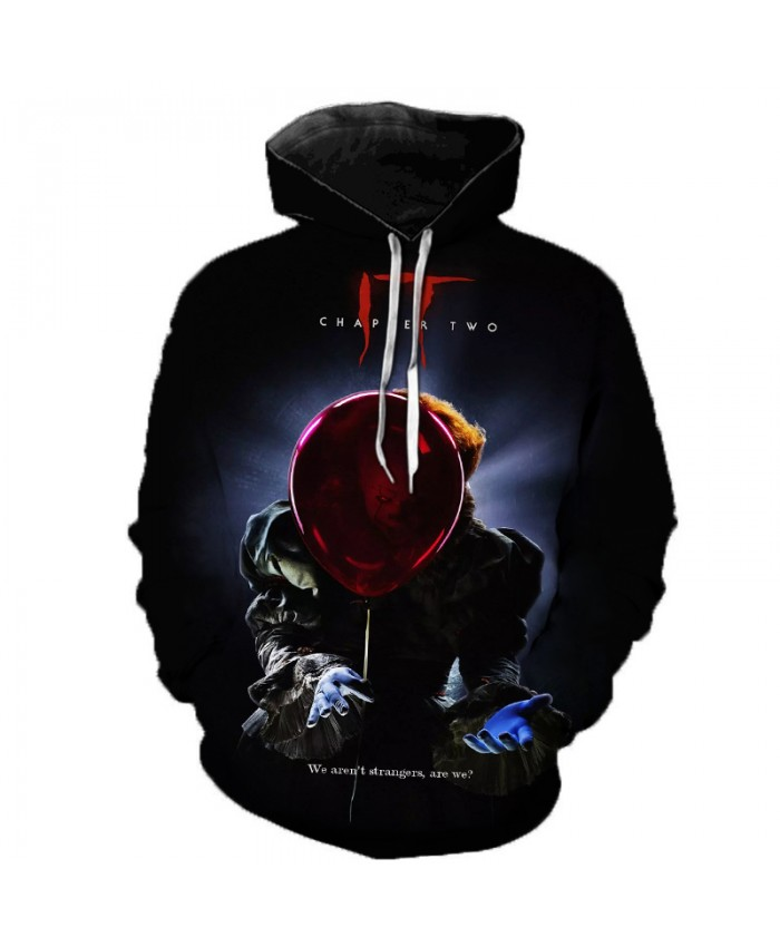 New Arrival It-chapter 2 Terror Character 3D Print Hoodies Men's Creative Harajuku Long Sleeve Hooded Sweatshirts Casual Tops