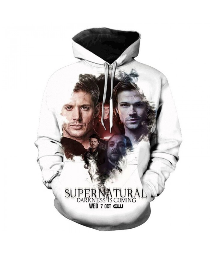 New Arrival Supernatural 3D Print Hoodie Men/Women Fashion Casual Sweatshirt Supernatural Pullover Streetwear Oversized Hoodies F