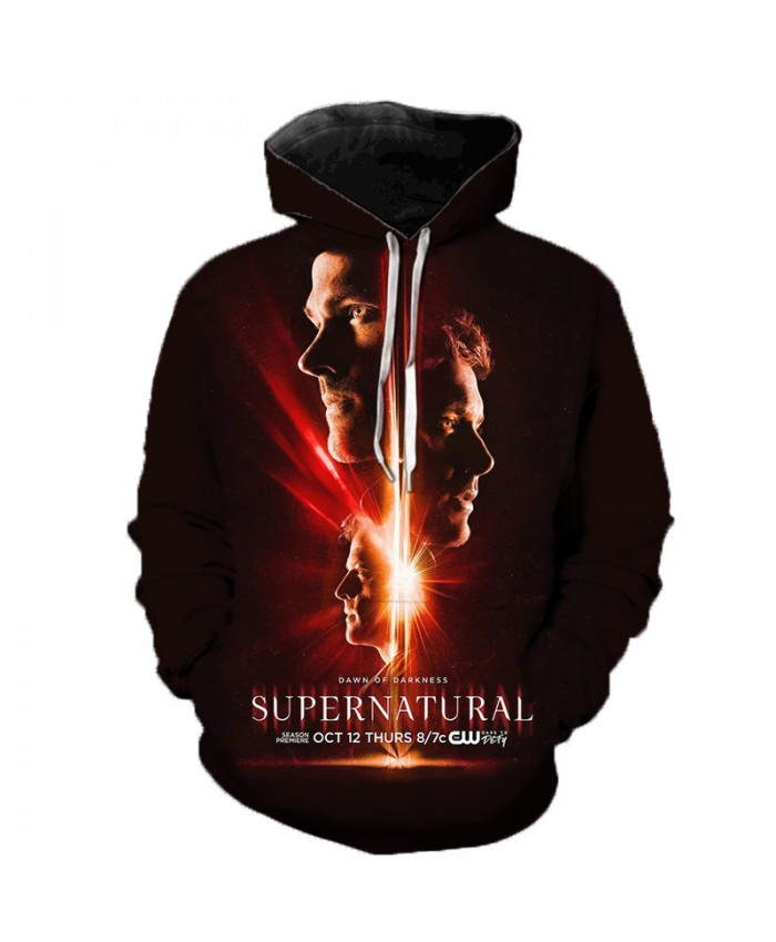 New Arrival Supernatural 3D Print Hoodie Men/Women Fashion Casual Sweatshirt Supernatural Pullover Streetwear Oversized Hoodies H