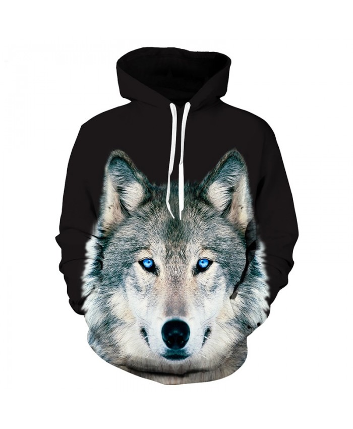 New Arrivals Men/women Hooded Hoodies Print Wolf Thin Spring Autumn 3d Sweatshirts With Hat Hoody Tops Dropship A