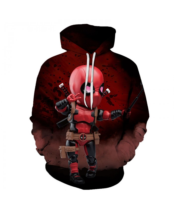 New Autumn Fashion Men/women Funny Hoodies Superhero Streetwear Deadpool 2 Hooded Hoody Sweatshirt 3D lovely Tracksuits Outwear