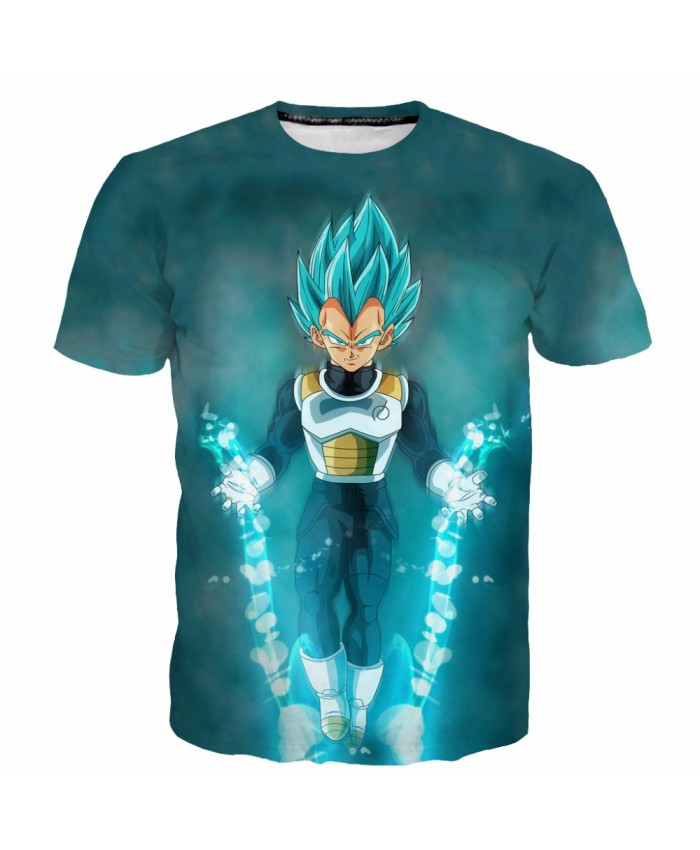 New DRAGON BALL T shirt 3D Saiyan Printed Summer Tshirt Men Hot Animation Vegeta Goku tops