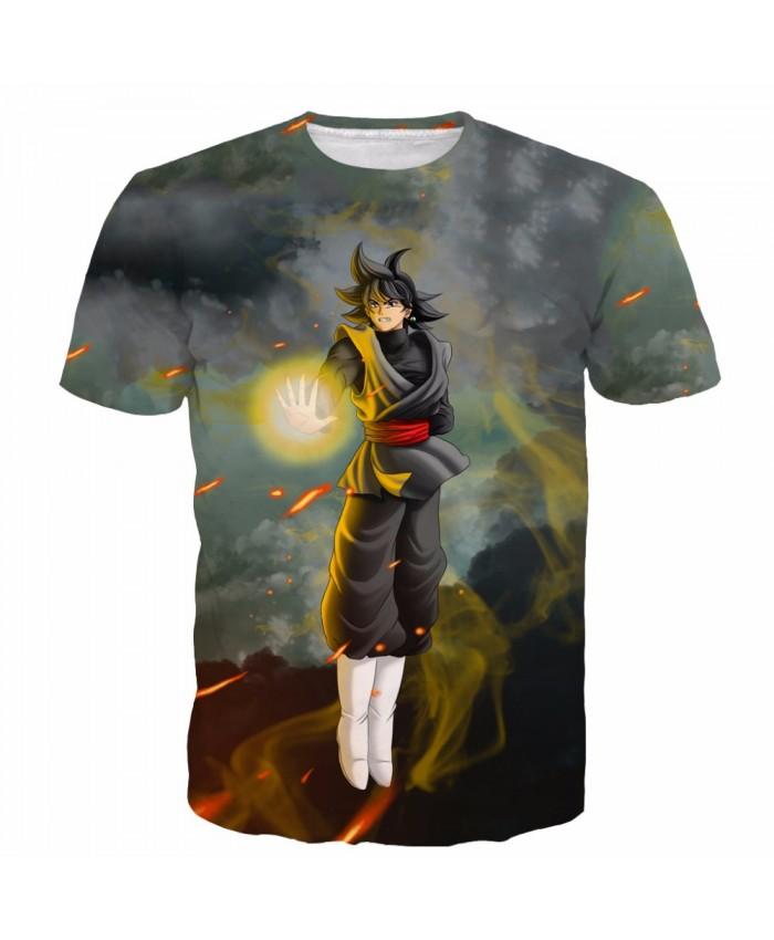 New DRAGON BALL T shirt 3D Saiyan Printed Summer Tshirt Men Hot Animation Vegeta Goku tops A