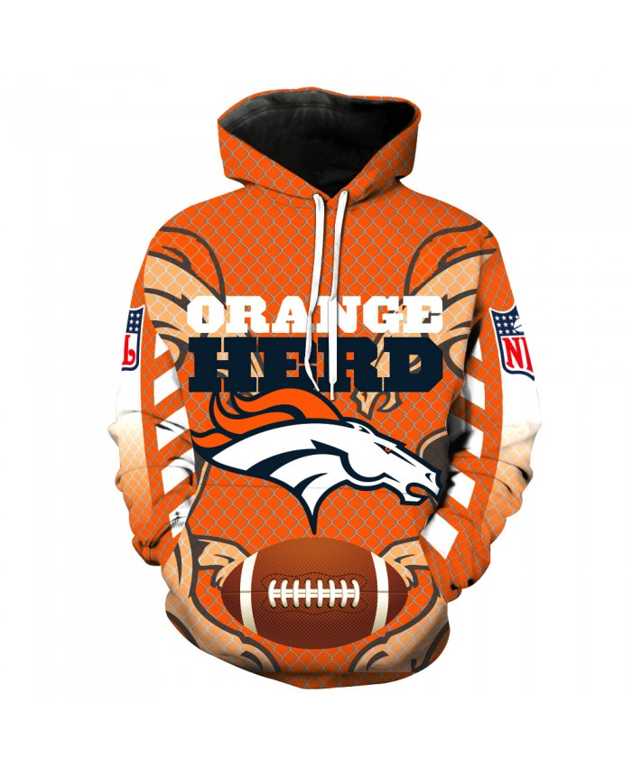 New Denver Broncos Denver Broncos NFL Football Team Digital Print Sweater Hoodie