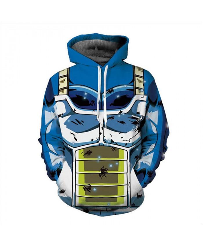 New Dragon Ball Hoodie Men's 3D Sweatshirt Super Saiyan Son Goku Vegeta Print Pullover Male Anime Hooded Sweatshirts Jacket