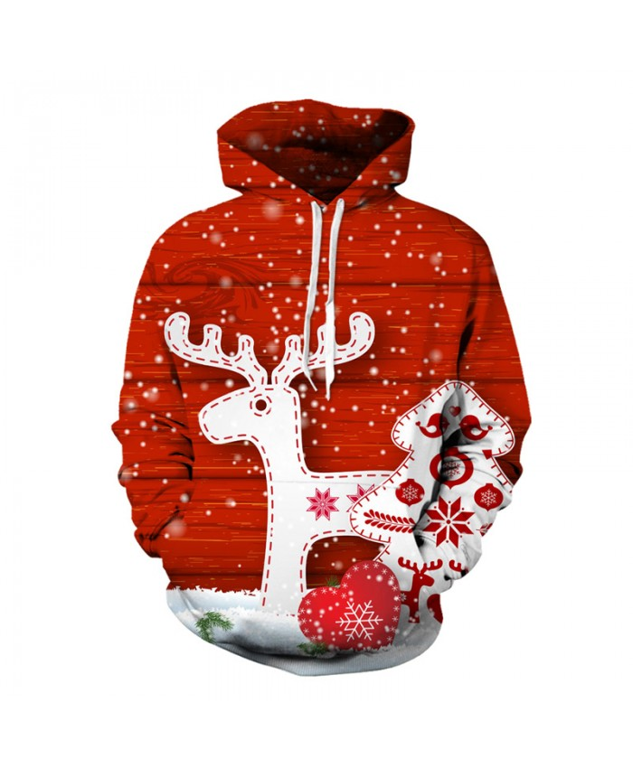 New Fashion Hooded Christmas Cartoon Fawn 3d Hoodies Men Women Autumn Winter Tops Paint 3d Sweatshirts Unisex Pullovers