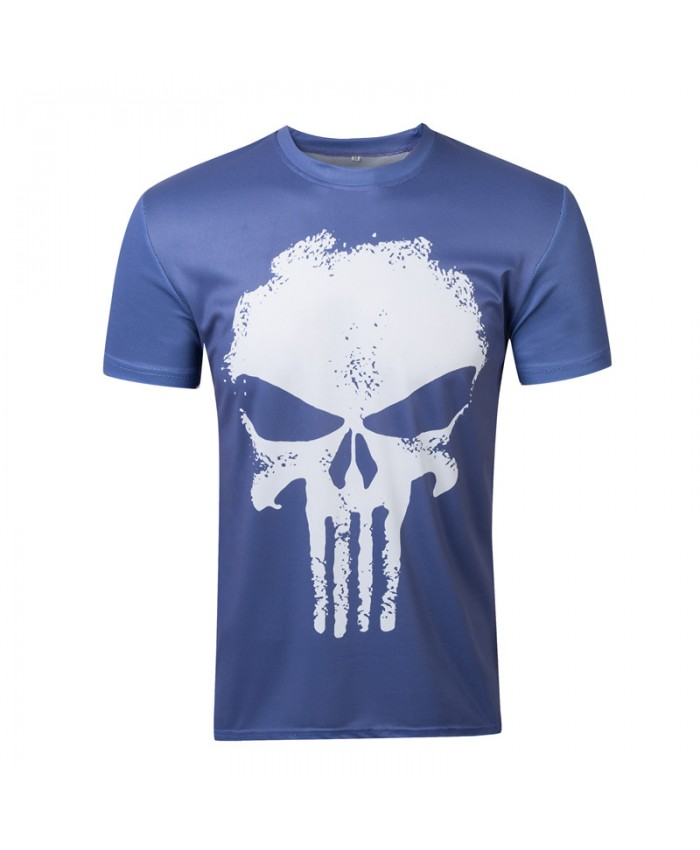 New Fashion Men T Shirts 3d Printed Funny punisher Man Clothing Round Neck Boy Camisetas Short Sleeve tees tops
