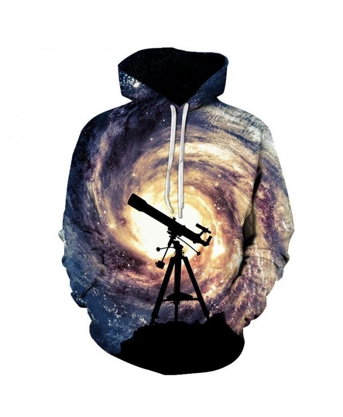 New Fashion Men/Women 3D Sweatshirts Print Telescope whirlpool Hoodies Autumn Winter Thin Hooded Pullovers Tops