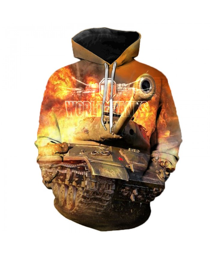 New Games World of Tanks 3D Printed Hooded Sweatshirts Men Women Fashion Casual Pullover Hip Hop Streetwear Oversized Hoodies