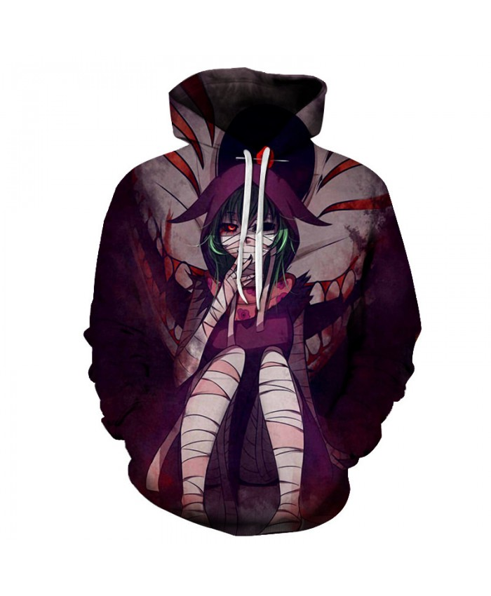 New Hot Anime Tokyo Ghoul Hoodies Women/Men Fashion Black Japan 3D Printed Hooded Sweatshirt Casual Streetwear Halloween Clothes