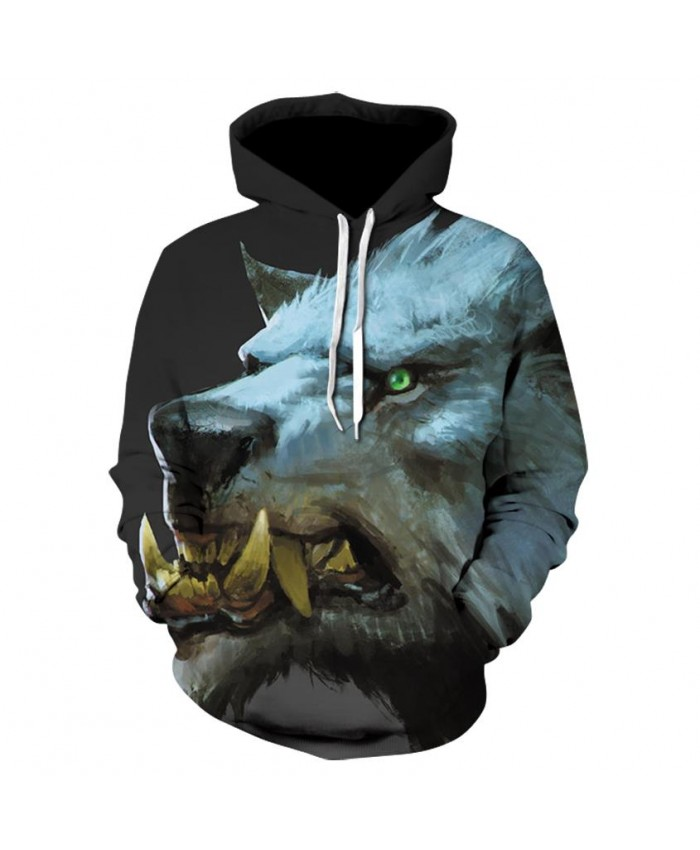 New Hot Sale Brand Wolf Printed Hoodies Men 3D Sweatshirt Quality Plus size Pullover Novelty 5XL Streetwear Male Hooded Jacket