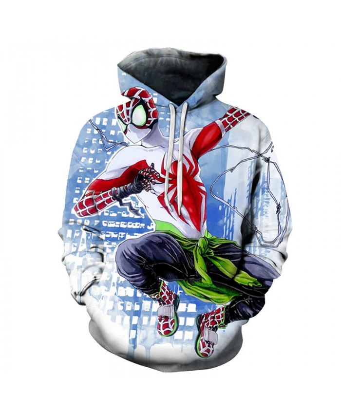 New Marvel Comics 3D Spiderman Hoodies Men Autumn Fashion Funny Hoodie Harajuku Hip Hop Men Women Hoody Streetwear Sweatshirts