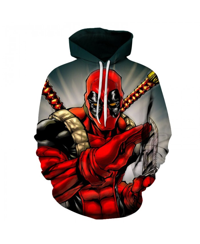 New Marvel Superhero 3D Print Deadpool Hip Hop Hoodies Men Funny Streetwear Clothing Men 2019 Casual Sweatshirt Hoodie Men/Women