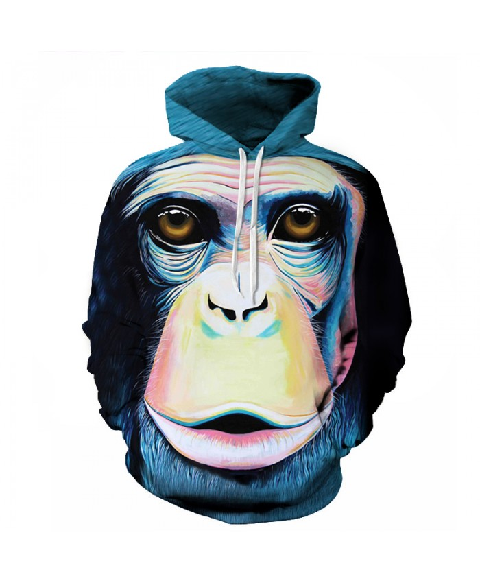 New Spring Fashion Men/Women Cool Paint Monkey 3D Hoodies Street Style Cool 3D Printing Sweatshirt Polluver Harajuku
