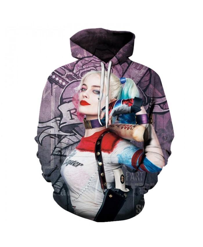 New Suicide 3D Hoodie Sweatshirts Squad Joker Harley Quinn Printed Men/Women Hood Pullovers Hip Hop Streetwear Dropship 2019