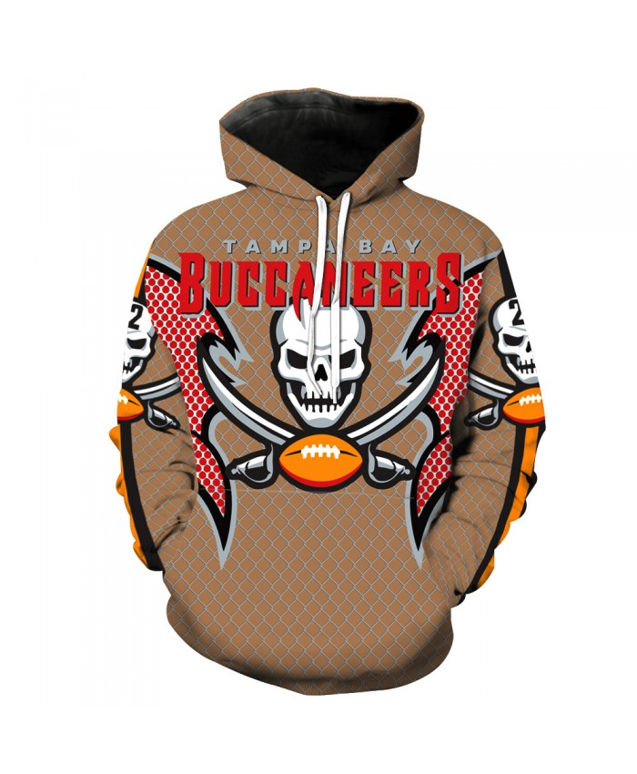 New Tampa Bay Buccaneers NFL Team 3D Digital Print Sweater Cool 3D Hoodies For Men